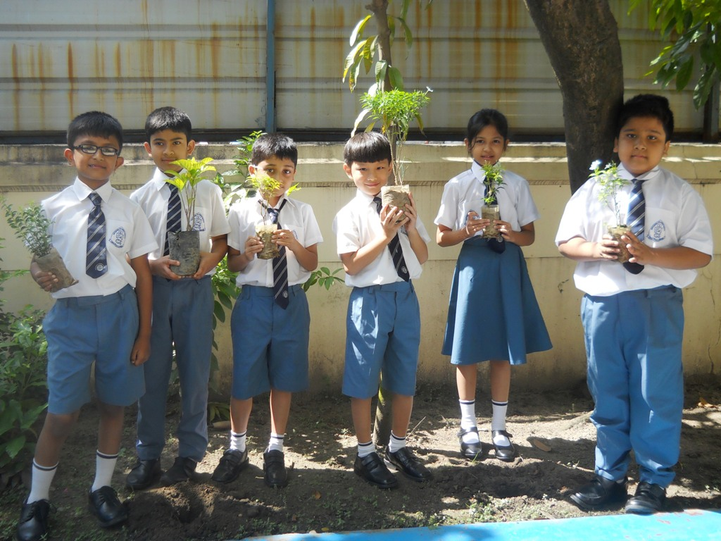 "Innovation class on ""Tree plantation ""of class-2"