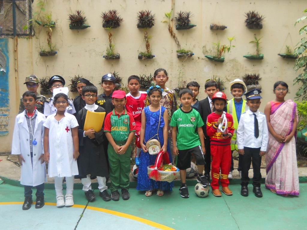 Class-2 Students has celebrated Profession Day